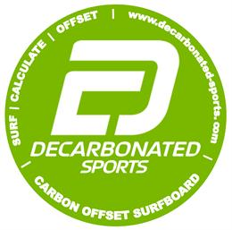 Carbon Offset Surfboard Sticker